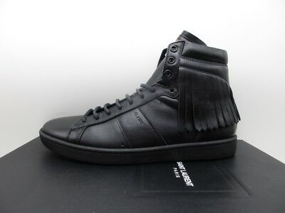 6cfcee74a830 SAINT LAURENT YSL Mens Studded SL 36H Black Silver High Top Sneakers ...