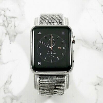 Apple Watch Gen 1 42mm Stainless Steel Case Series 7000 Seashell Nylon Loop