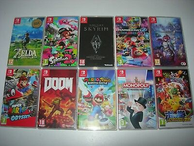 Nintendo Switch : ORIGINAL GAME BOXES - Request Your Box Via Message First