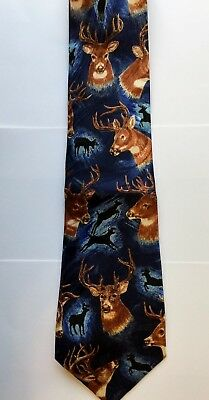 "New Men/'s New Neck Blue Trumpet Neck Tie 58/"" L 3.8/"" W Steven Harris"