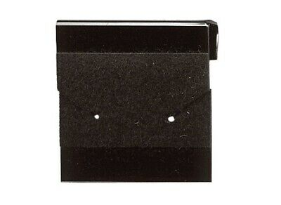 """144 Earring Display Cards Black Flocked /  1x1"""" Square"""