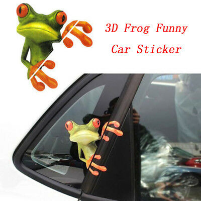 New SUV Truck Window 3D Peep Frog Funny Decorative Decal Graphics Car Sticker