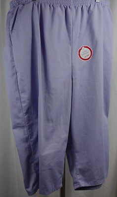 Chic Comfort Collection Womens Lavender Capri 100% Cotton Pull On Pants NWT