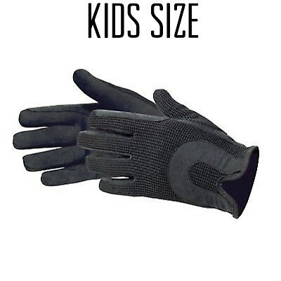 Kids Childrens Junior Ladies Horse Riding Gloves Dublin Track Shires Equestrian