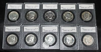 Lot of 10 Proof 1964 Kennedy Half Dollars all 90% Silver
