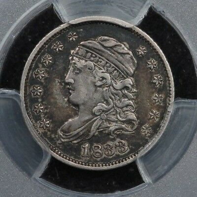 1833 H10c Capped Bust Half Dime PCGS XF40