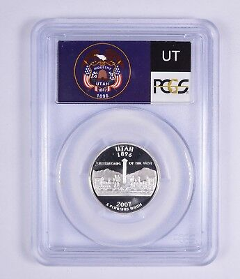 Graded - PR69DCAM 2007-S Utah State Quarter - Silver - Proof - PCGS Graded *471