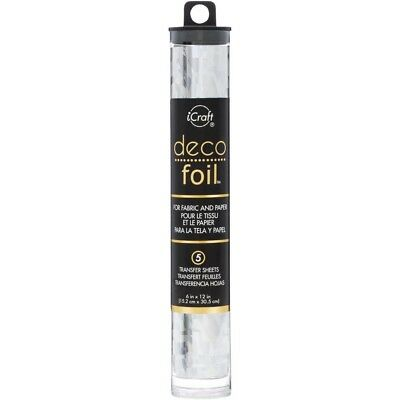 """Deco Foil Specialty Transfer Sheets 6""""X12"""" 5/Pkg - Silver Shattered Glass"""