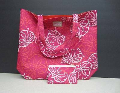 NEW 2 pc. Estee Lauder Lilly Pullitzer Set 2 Bags Tote Makeup Little Bag Pink!!!