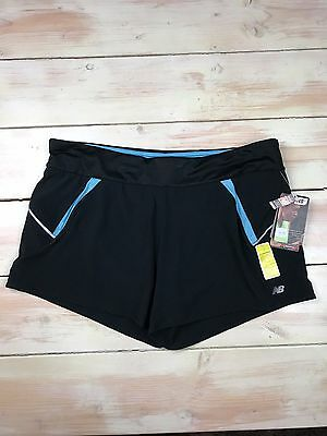 0ff58a1471e14 WOMEN'S NEW BALANCE Running Shorts Black with Pink Stripe Size: M ...