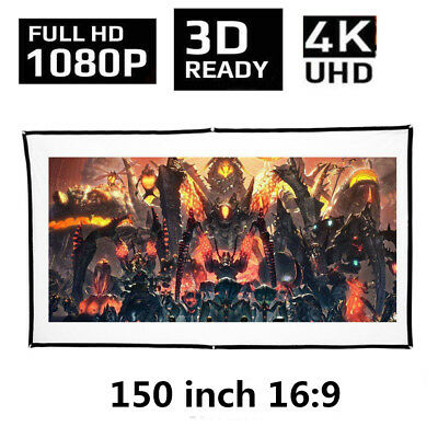 "Outdoor Portable Foldable Projector Screen 150"" 16:9 HD Home Cinema Projector"