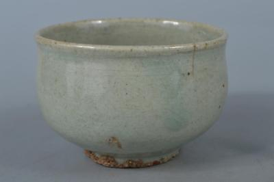 M2900: Korean Joseon Dynasty Buncheong Celadon TEA BOWL Green tea tool
