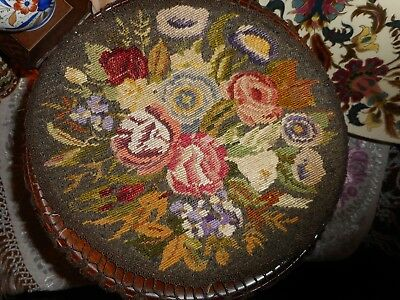 Late 19th Century hand embroidered table center with metallic gold crochet edges
