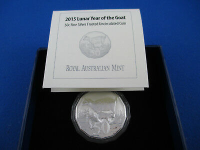 2015 Lunar Year of the Goat - 50c Fine Silver UNC Coin - TETRA-DECAGON SERIES