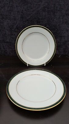 Boots Fine China Hanover Green   Tea Plates X 2