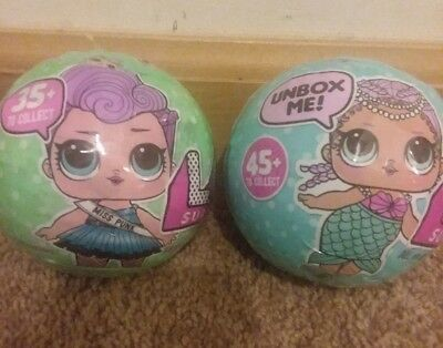 NEW LOL Surprise Doll Ball 7 Layers Of Fun L.O.L. Sealed Series 1 2 Lot Of 2 Set
