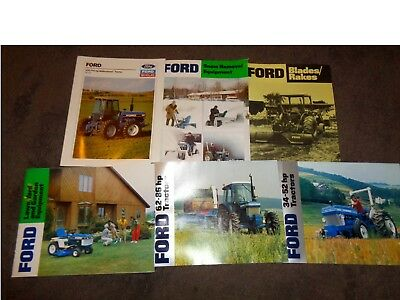 6 vintage Ford tractor brochure catalogs group **