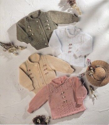 Baby Toddler Knitting Pattern Copy CARDIGANS and Sweaters 8 Ply DK