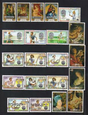Niue 1986-1990 Used Selection Cat £53+