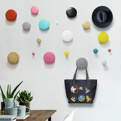Wall decoration Dot Solid wood Wall hanger Wall hanging Coat rack wooden hook wo