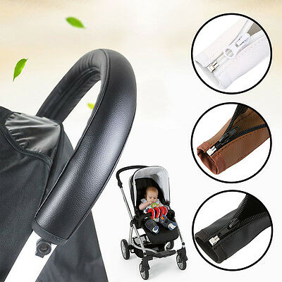 Baby Pram Accessories Stroller Armrest PU Leather Case Cover For Arm Covers AQ