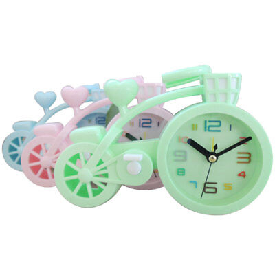 New Candy Colour Bedroom Alarm Clock Bicycle Bike Shape Desk/ Friends Kids Gift