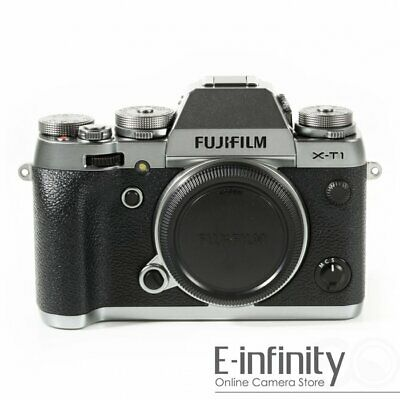 NEW Fujifilm X-T1 Mirrorless Digital Camera Body Only (Graphite Silver)