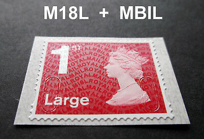 2018 1st LARGE M18L + MBIL Code Machin SINGLE STAMP from Business Sheet