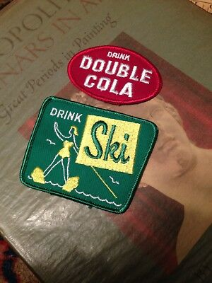 Vintage Double Cola & Ski Soda Patch Patches Uniform Jacket Sign Advertising  Pr