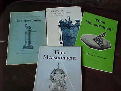 4 x VINTAGE CLOCK AND WATCH BOOKS : BRITISH MUSEUM & SCIENCE MUSEUM HUGH TAIT