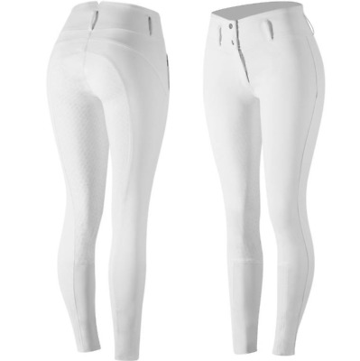 Horze Daniela Ladies Silicone FS Breeches (White)