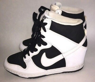 cheap for discount 4891a a26f7 Women s NIKE DUNK SKY HIGH Wedge 7.5 Black White Basketball Shoes 644877-007
