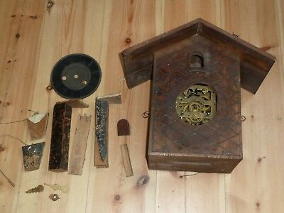 Incomplete Junghans spring-driven cuckoo clock for spares