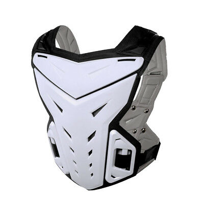 HEROBIKER Motorcycle Riding Chest Back Spine Protector Armor MC1007B White