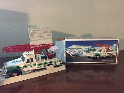 1994 Hess Toy Rescue Fire Truck - New In Box Vintage  Lights And Sounds