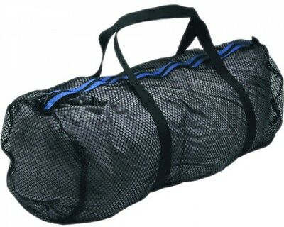 Innovative Scuba ConceptsHeavy-Duty Mesh Duffel Bag (Large, Black/Blue)