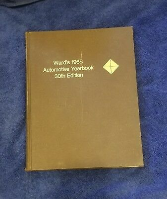 1968 WARD'S AUTOMOTIVE YEARBOOK 30th EDITION
