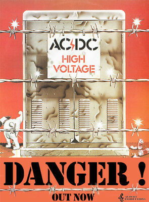 ACDC Australian record promo poster High Voltage 1975