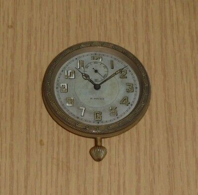 Antique Swiss 8 days travel clock watch for spares