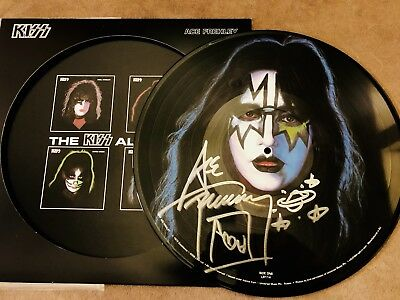 Kiss Ace Frehley Signed Solo Picture Disc Aucoin