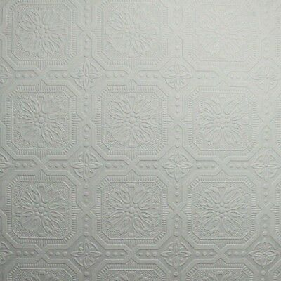 Graham Brown 56 Sq Ft Small Squares Paintable Textured Interior Wallpaper Roll