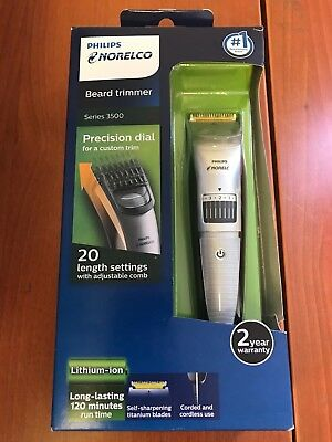 *READ AD* Philips Norelco Beard Trimmer Series 3500, 20 Built-In Length