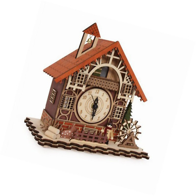 Swiss Style House Clock incorporating music box Timber framed