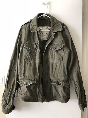 Hollister Field Military Style Jacket Great Condition Preowned