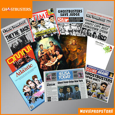 GHOSTBUSTERS Magazine Movie Prop-Collection, 11 Props from Ghostbusters I and II