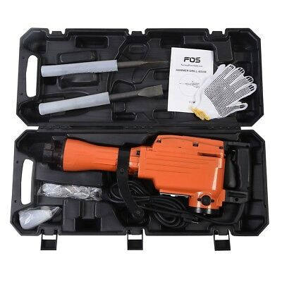 2200 Watt Electric Demolition Jack Hammer Concrete Breaker Bit HD Punch Chisel