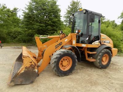 Case 221D Wheel Loader, Cab/Heat, 2 Speed, 60HP Perkins, Quick Coupler, 2079 HRS