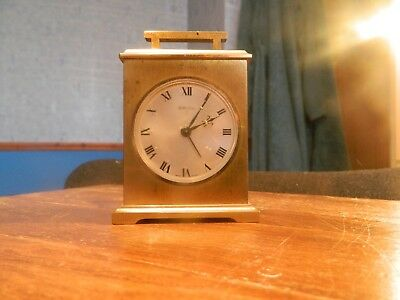 SWIZA brass carriage mantle clock