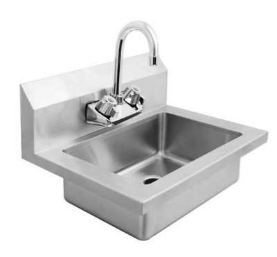 NEW Hand Wash Sink Wall Mount with Faucet #8435 Commercial Clean Washing ETL/NSF