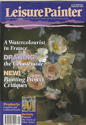 LEISURE PAINTER Magazine September 2002 - Drawing The Countryside, Pencils, Etc